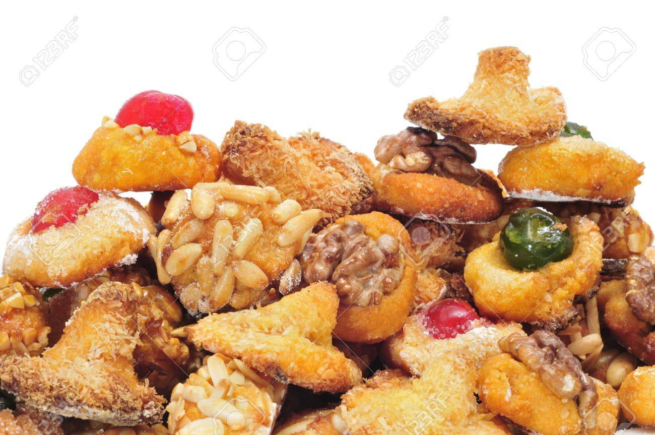 panellets, a typical pastry of Catalonia, Spain, in All Saints holiday Stock Photo - 15259590