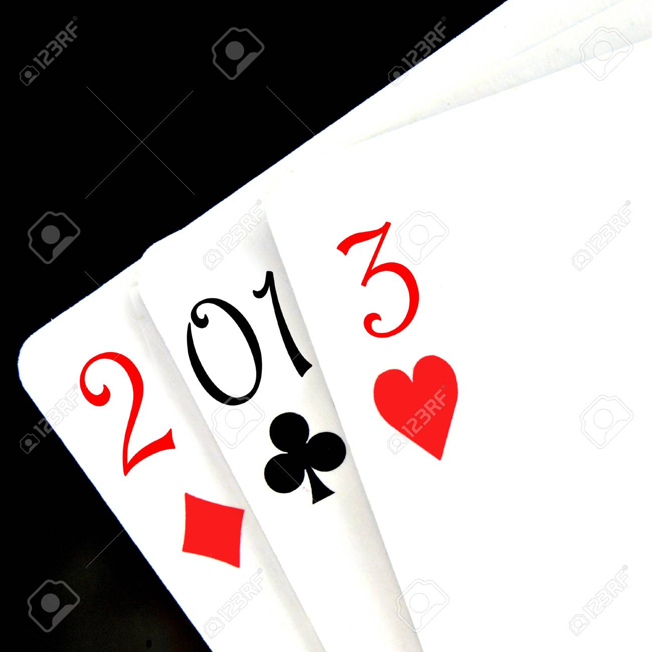 2013, the new year, written with playing cards Stock Photo - 16169795