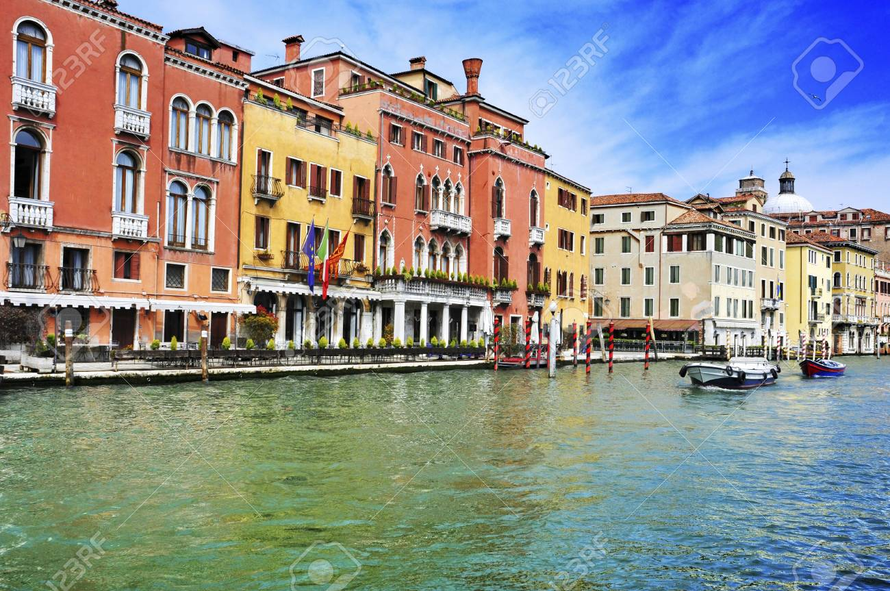 a view of The Grand Canal in Venice, Italy Stock Photo - 19365558