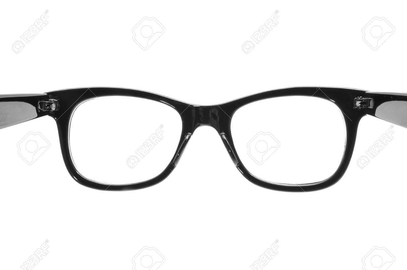 Cerca De Un Negro Gafas Con Montura De Plástico Sobre Un Fondo ...