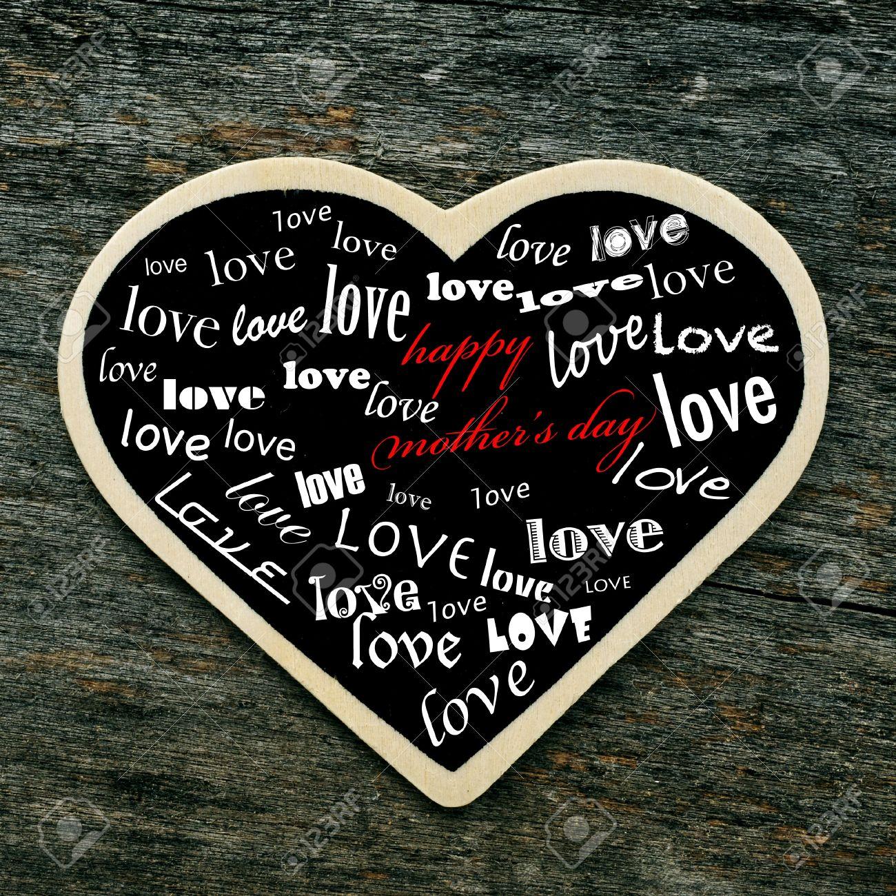 Frase Feliz Madres Dia Y La Palabra Amor Escrita En Muchas Fuentes