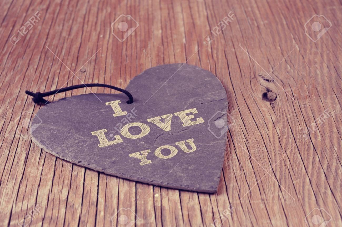Der Satz Text Ich Liebe Dich In Einem Herzförmigen Natürliche ...