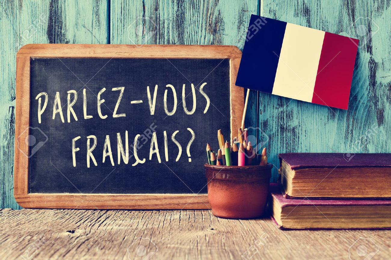 A Chalkboard With The Question Parlez Vous Francais Do You Speak Stock Photo Picture And Royalty Free Image Image 46480434