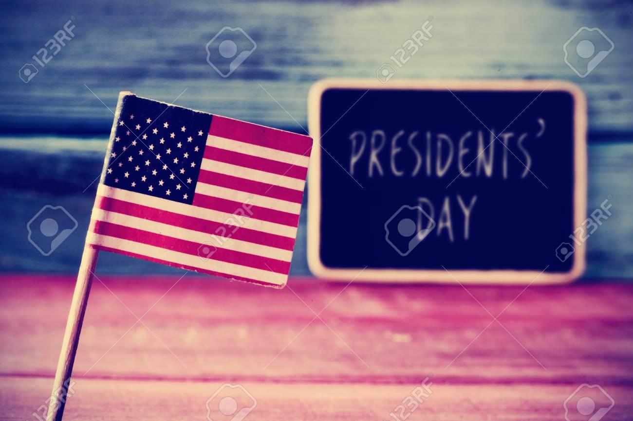 Die Flagge Der Vereinigten Staaten Und Der Text Des Tages Text ...