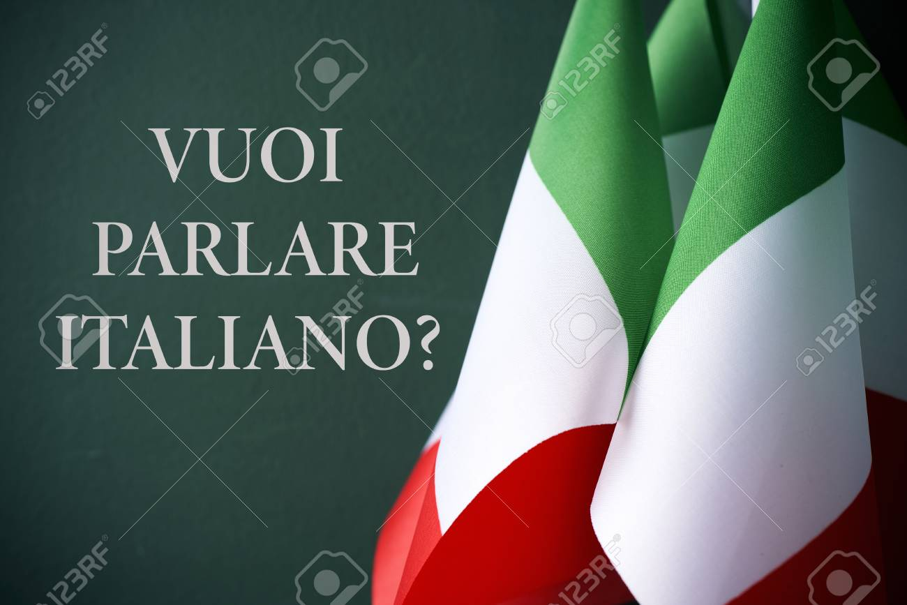 Some Flags Of Italy And The Question Voi Parlare Italiano Do Stock Photo Picture And Royalty Free Image Image 94114680