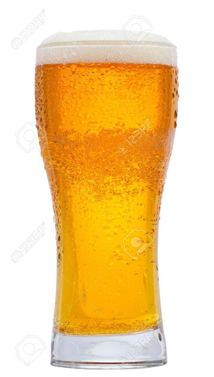glass of beer on white background Stock Photo - 9369863
