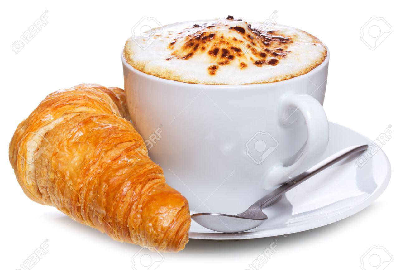 Aspects du mois d'Août - Page 6 10262596-caf%C3%A9-et-croissant-sur-un-fond-blanc