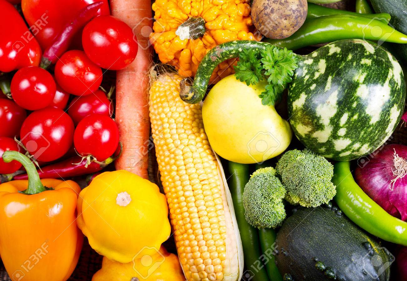 fresh vegetables as background Stock Photo - 46654567
