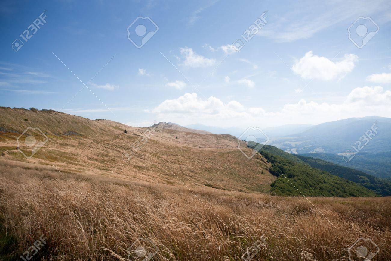 Bieszczady mountains in south-east Poland - Polonina Wetlinska Stock Photo - 13560982