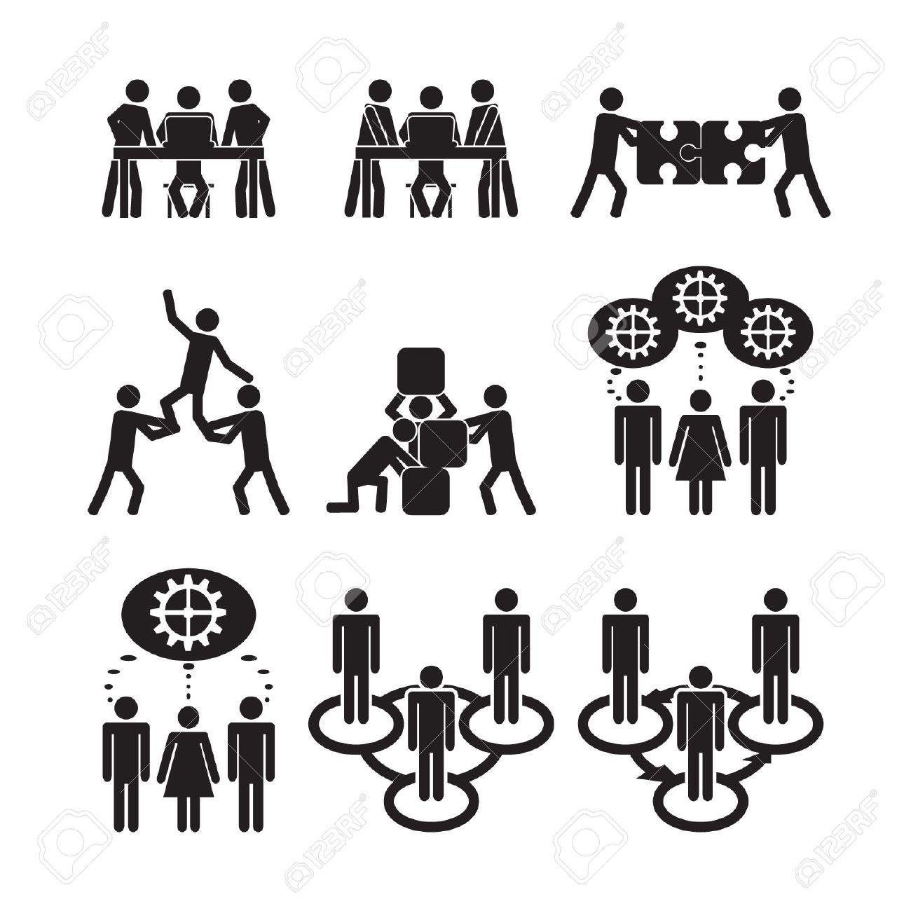 Teamwork icons set - 24703445