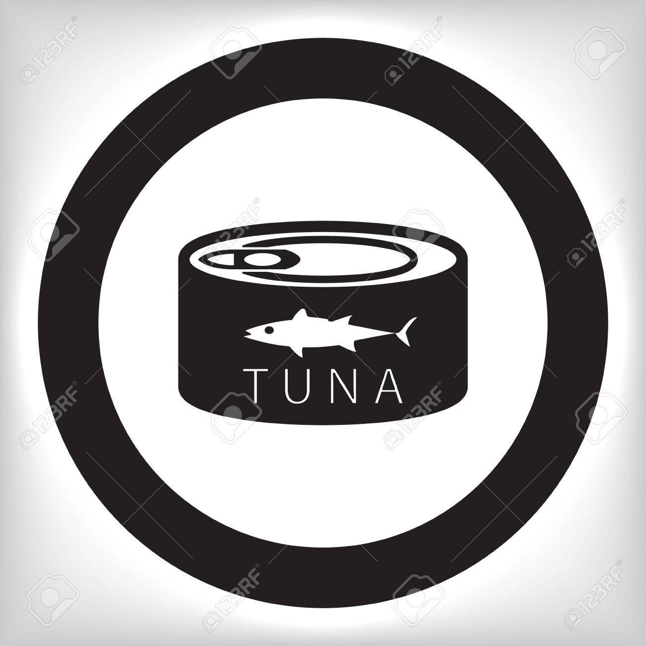 ツナ缶のアイコンのイラスト素材ベクタ Image 43532053