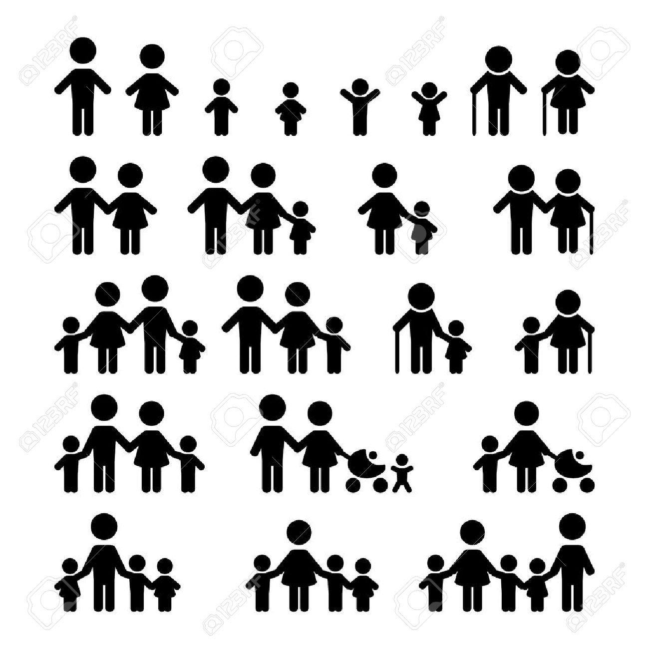 Family icons set Stock Vector - 45261162