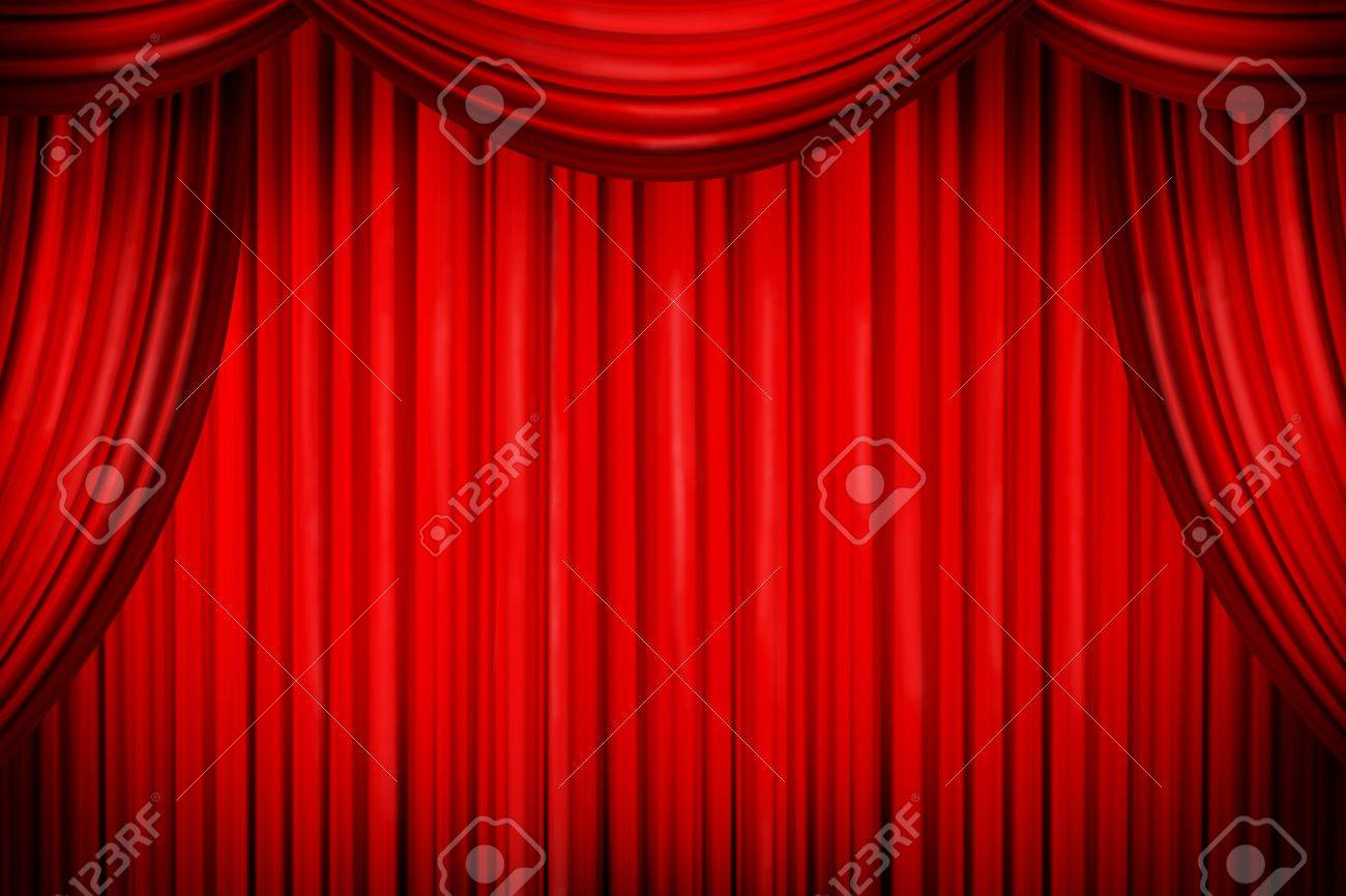 Closed theater curtains - Closed Curtains In Theater Of Similar Place Stock Photo 22046022