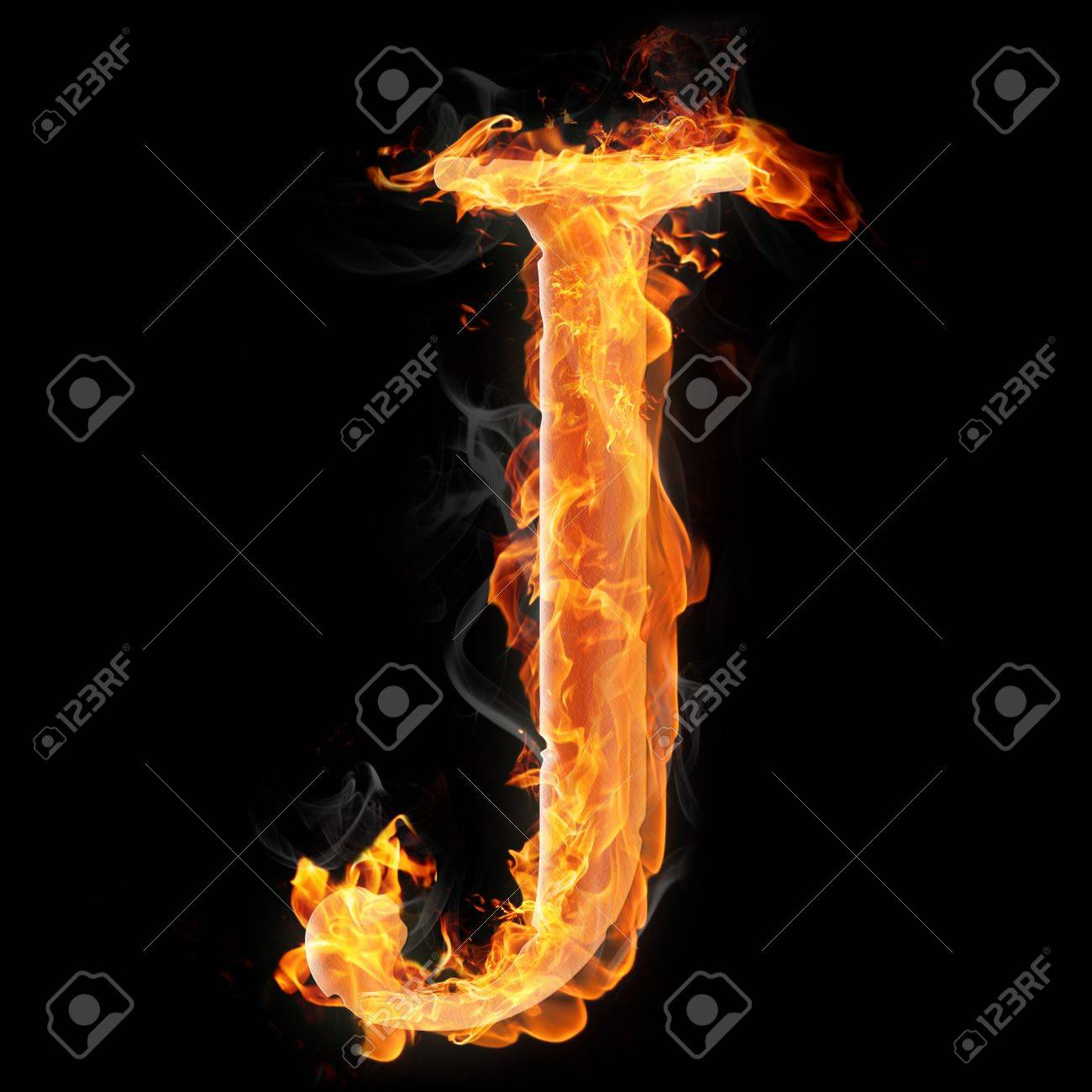 letters and symbols in fire letter j stock photo 22046218