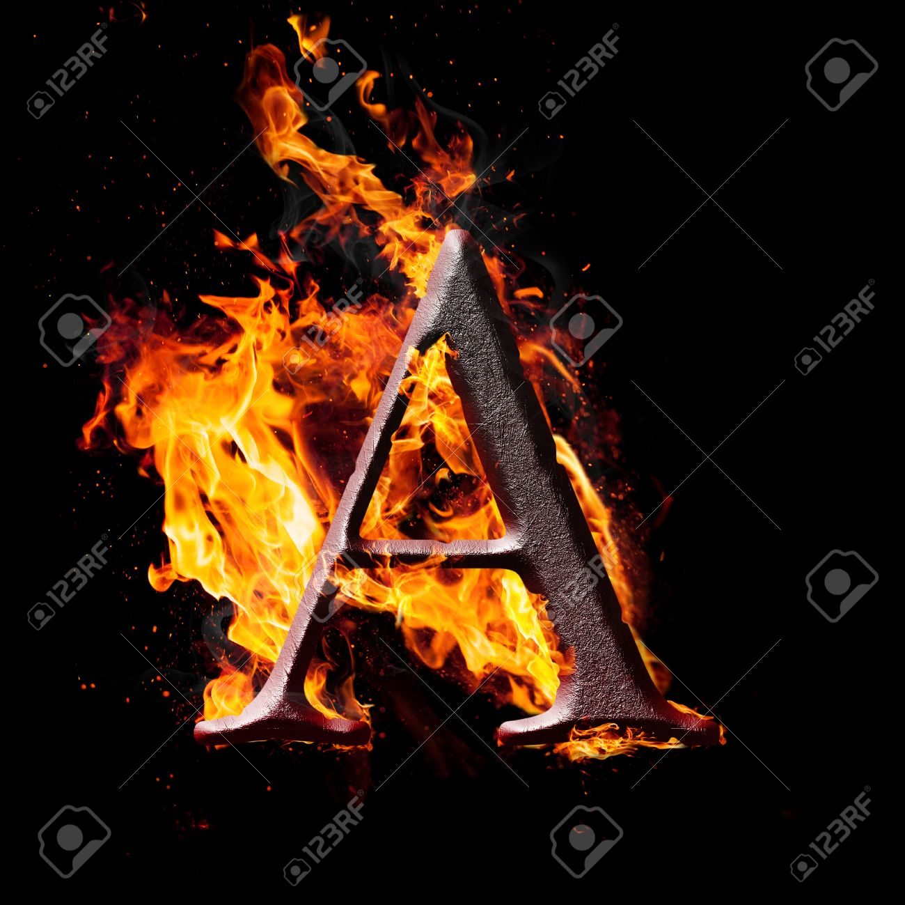 Letters and symbols in fire letter a stock photo picture and letters and symbols in fire letter a stock photo 24641877 thecheapjerseys Images