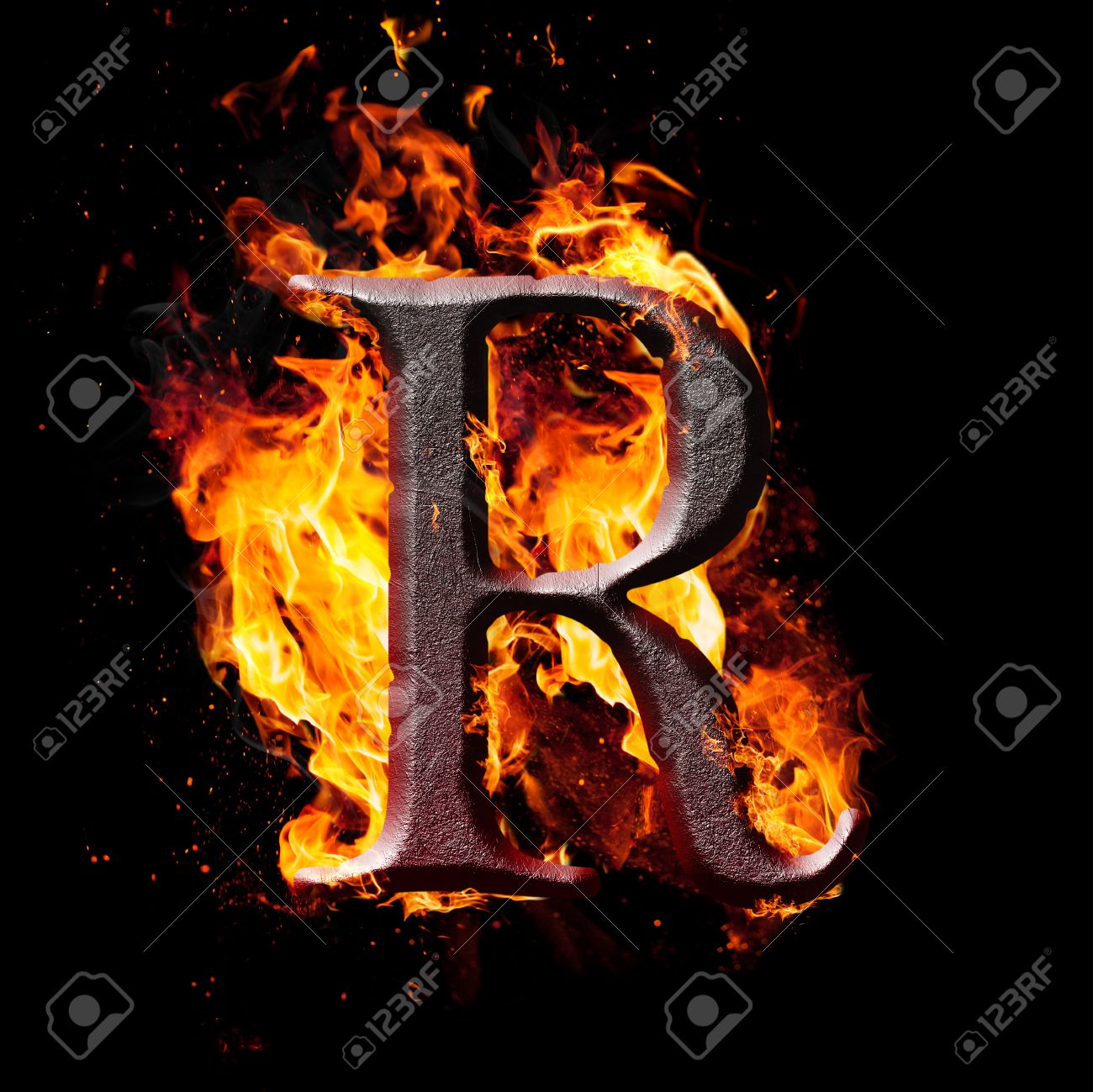 Letters and symbols in fire letter r stock photo picture and letters and symbols in fire letter r stock photo 24697123 altavistaventures Images