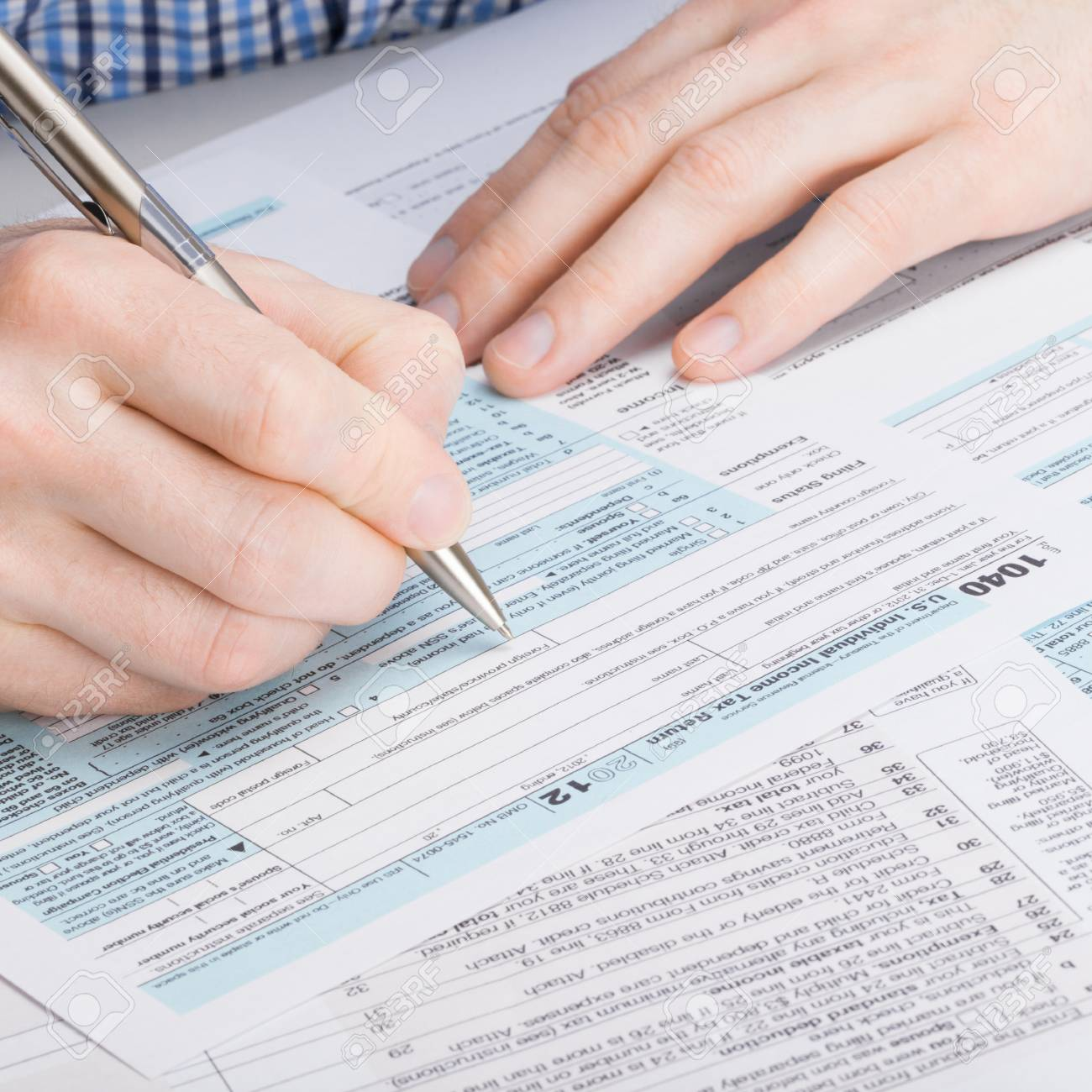 USA 1040 Tax Form Stock Photo, Picture And Royalty Free Image. Image ...