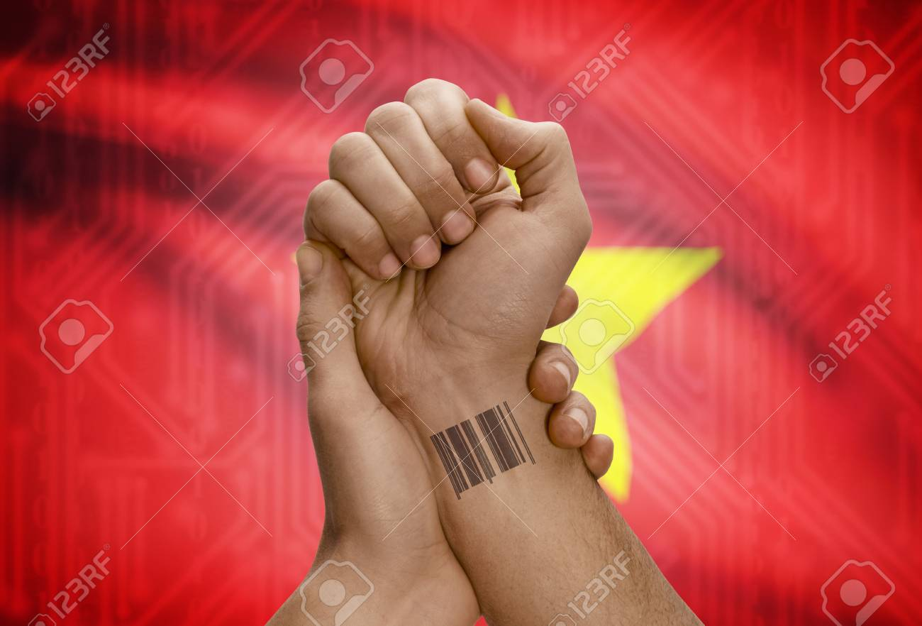 Barcode Id Number Tattoo On Wrist Of Dark Skinned Person And Stock Photo Picture And Royalty Free Image Image 48069281