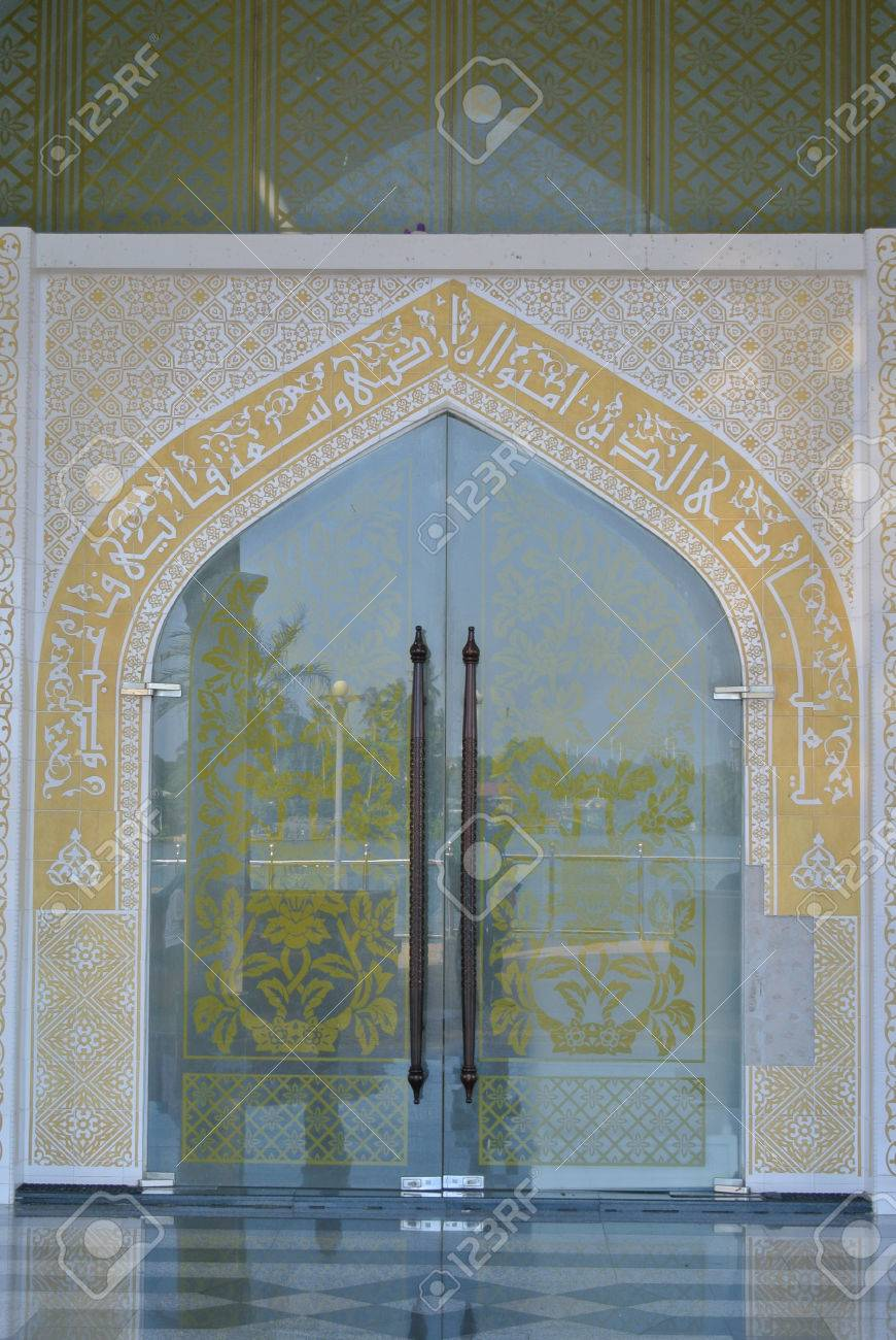 Main door of the Crystal Mosque a.k.a. Masjid Kristal. The mosque is located at Islamic & Main Door Of The Crystal Mosque A.k.a. Masjid Kristal. The Mosque ... pezcame.com