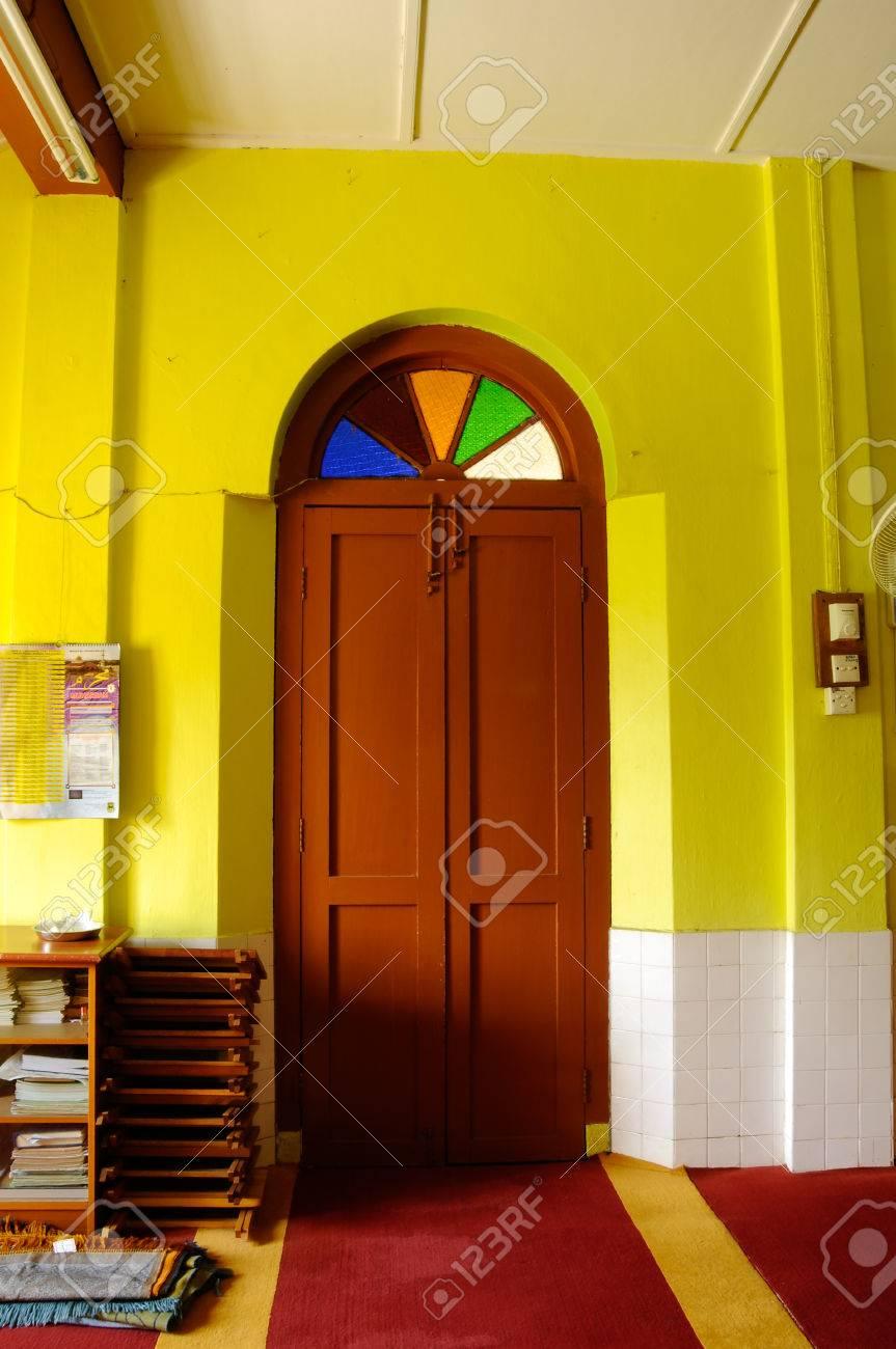 Traditional wooden door at Masjid Kariah Datou0027 Undang Kamat. The moosque was built on & Traditional Wooden Door At Masjid Kariah Datou0027 Undang Kamat ... pezcame.com