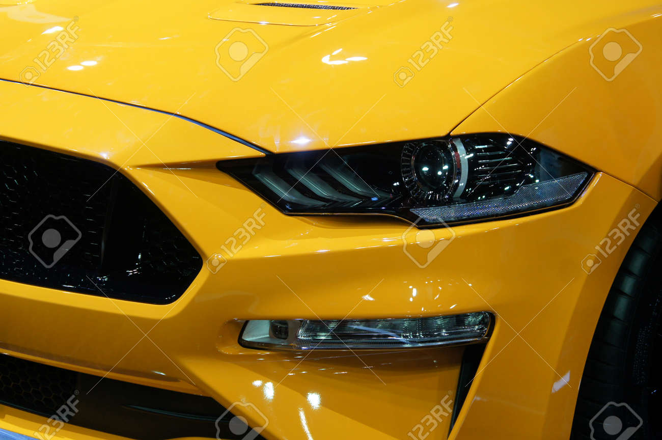 KUALA LUMPUR, MALAYSIA -NOVEMBER 23, 2018: Modern car headlight with futuristic design. Designed specifically to give enough visual for the driver at night. - 167999239