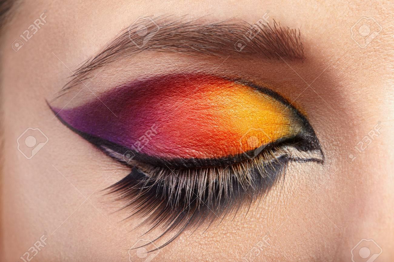 Verwonderend Eye Makeup. Beautiful Eyes Glitter Make-up. Stock Photo, Picture WL-46
