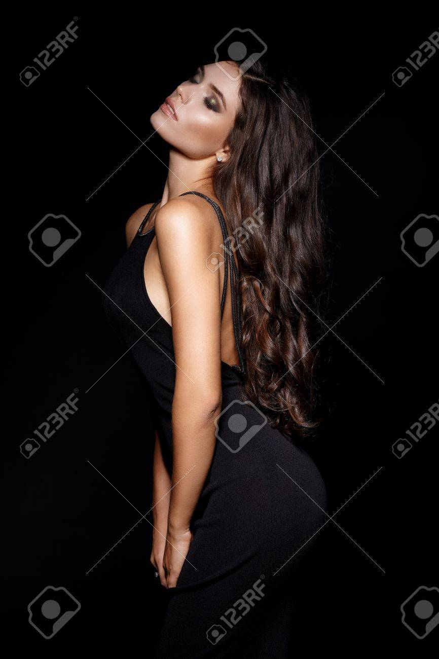 Sexy black hair girls back pictu photo 734