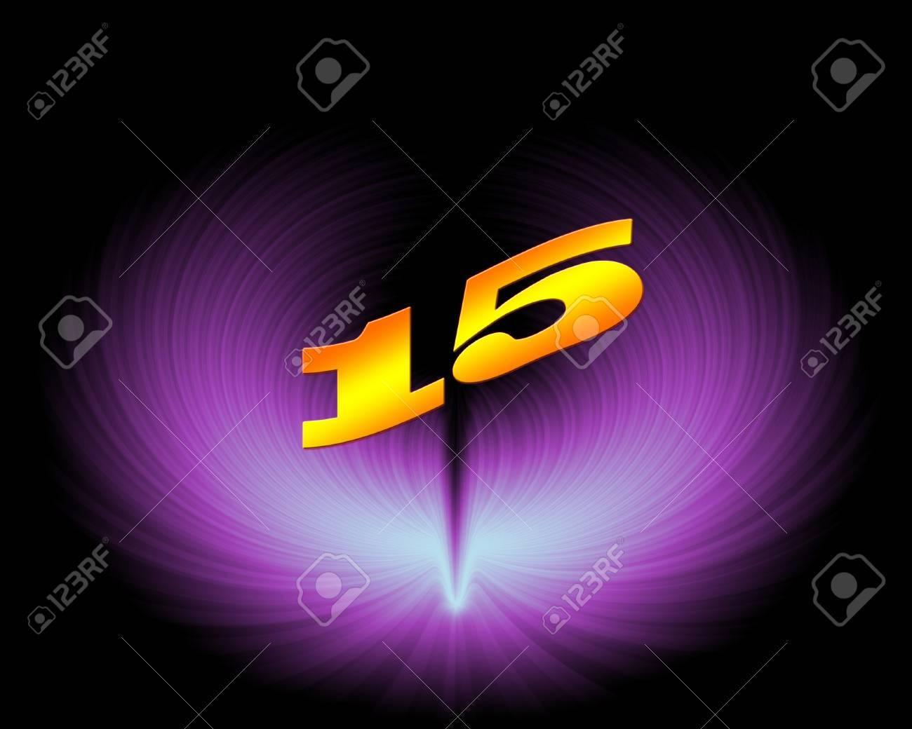15 or 15th anniversary in artistic design - 11420030