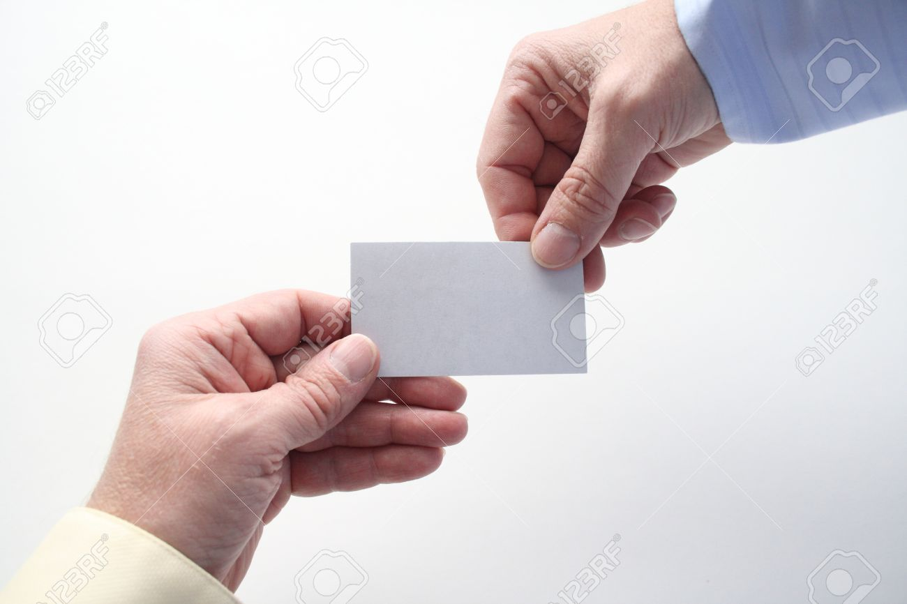 One handing out a business card to someone else stock photo picture one handing out a business card to someone else stock photo 13379150 colourmoves