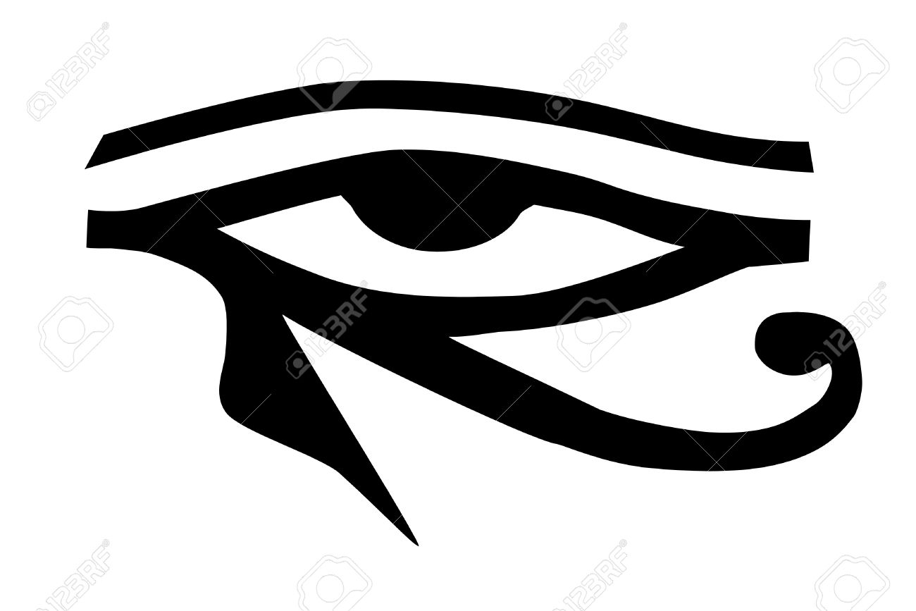 26e66605d64ca A Eye Of Horus Tribal Tattoo Royalty Free Cliparts, Vectors, And ...