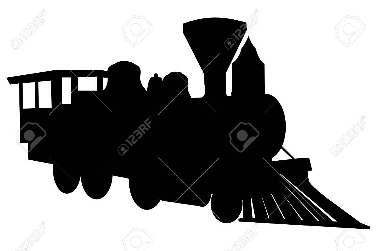 Steam locomotive silhouette Stock Vector - 4035502