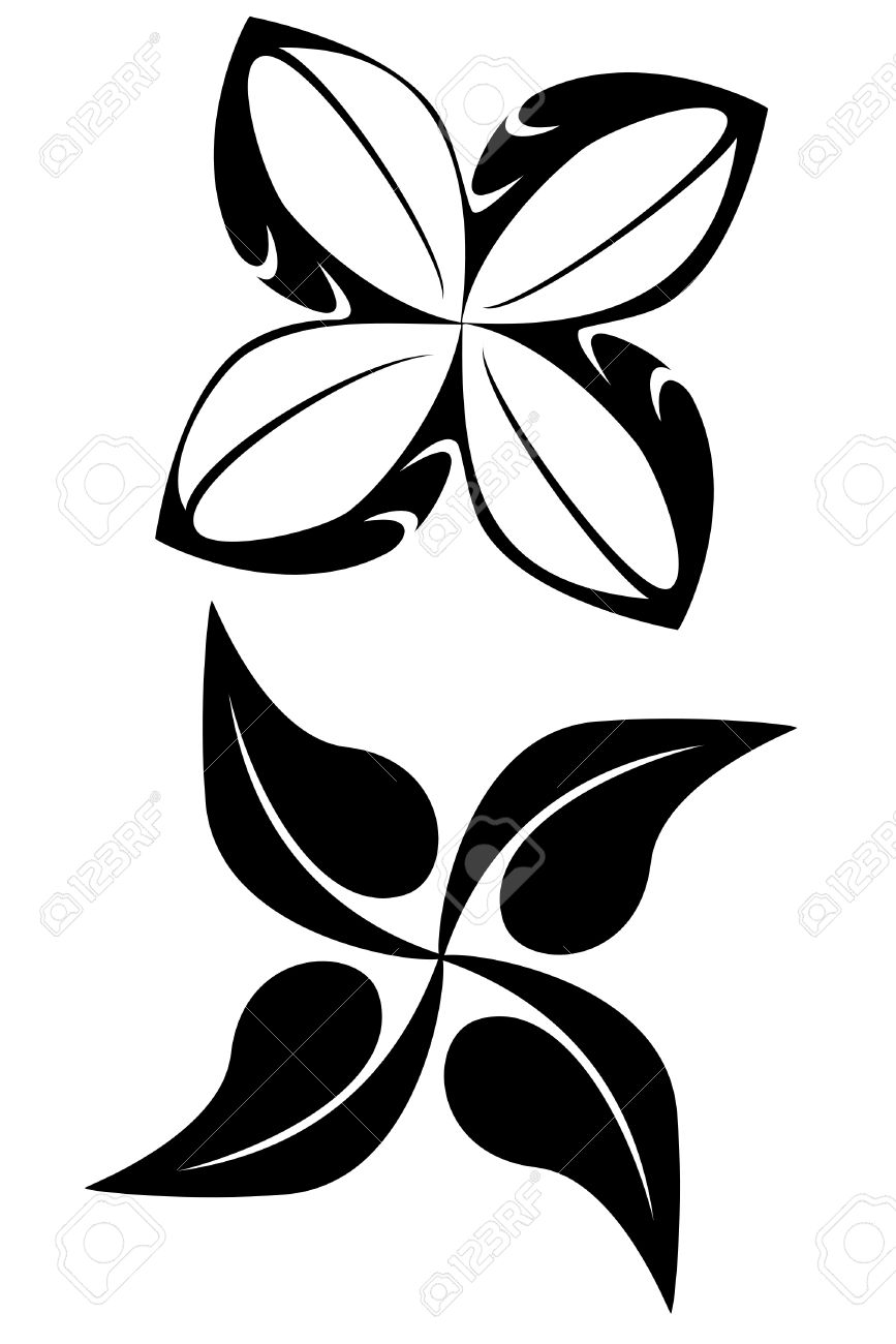 Two Tribal Flower Tattoos Royalty Free Cliparts Vectors And Stock