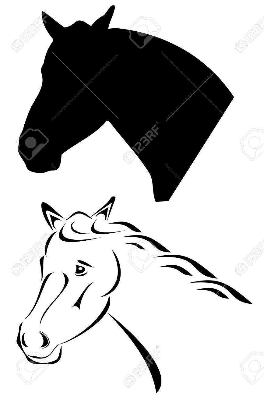 A Black Tribal Horse Tattoo Royalty Free Cliparts Vectors And Stock Illustration Image 4335997