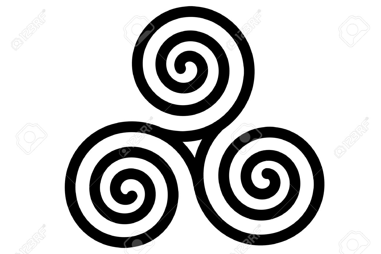 The celtic symbol choice image symbol and sign ideas the celtic triple spiral or triskele royalty free cliparts the celtic triple spiral or triskele stock biocorpaavc