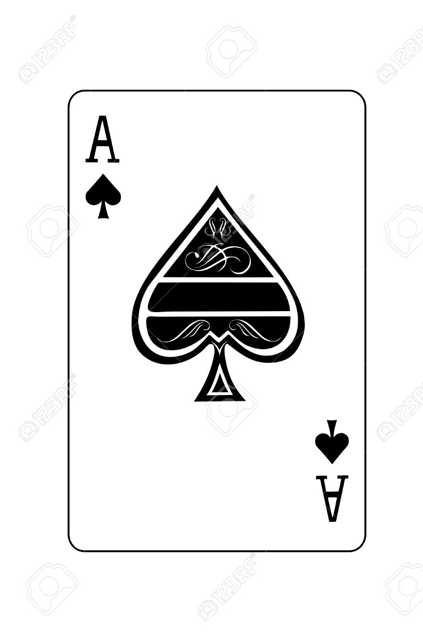 A Isolated Ace Of Spades Playing Card Royalty Free Cliparts Vectors