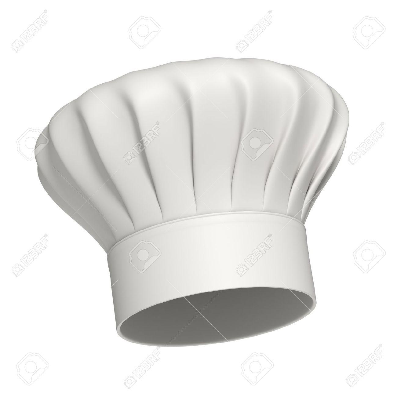 Gorros De Cocina | 3d Rindio Blanco Gorro De Cocinero Aislados En Fondo Blanco De