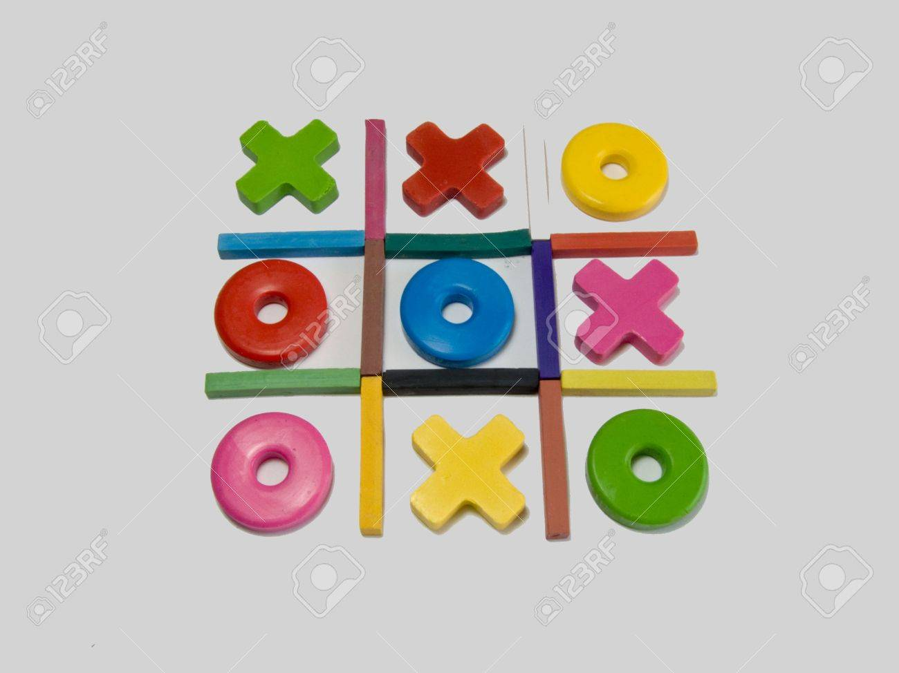 Naughts And Crosses A Childhood Game Stock Photo, Picture And ...