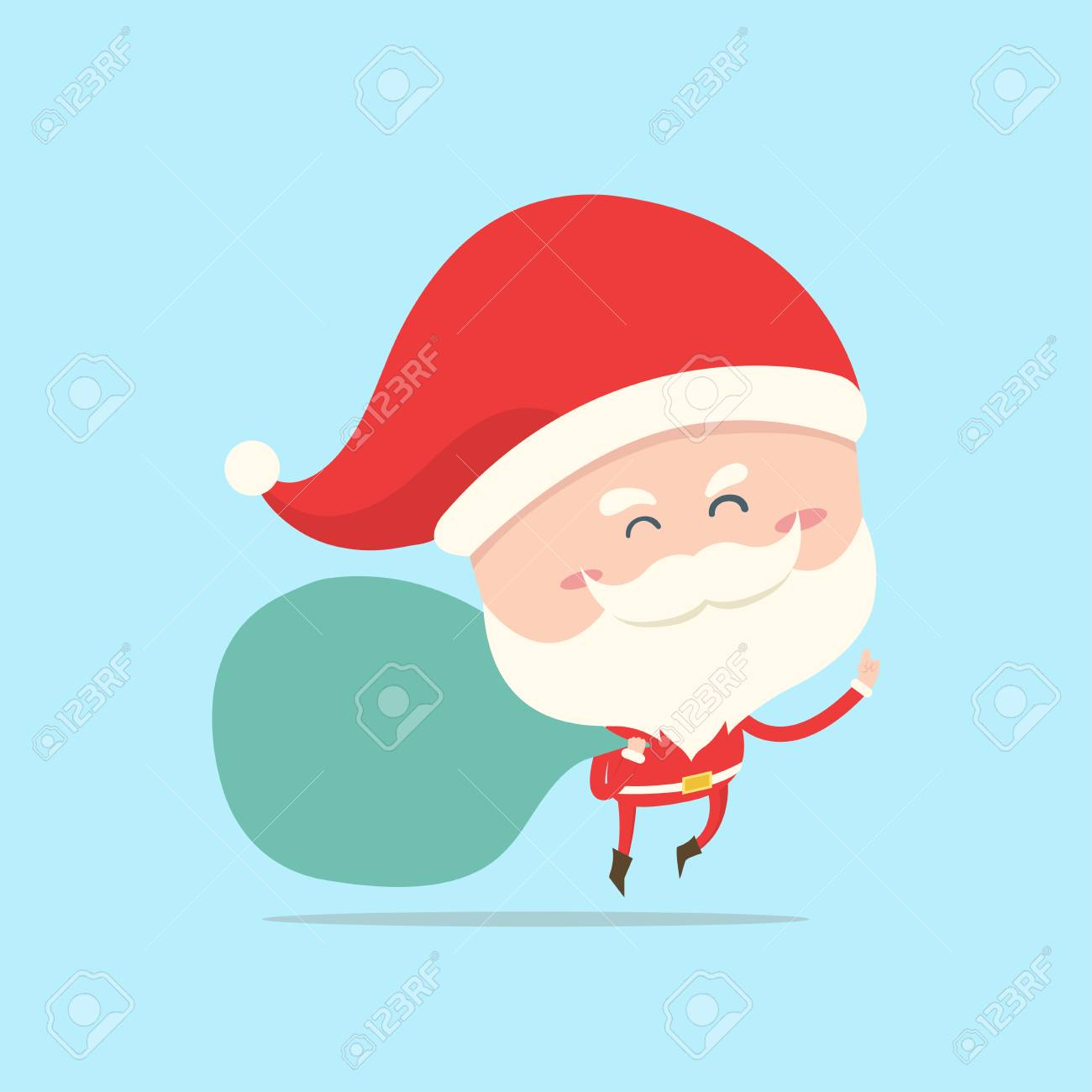 Weihnachtsmann Tragen Große Tüte Geschenk, Geschenk Für Weihnachten ...