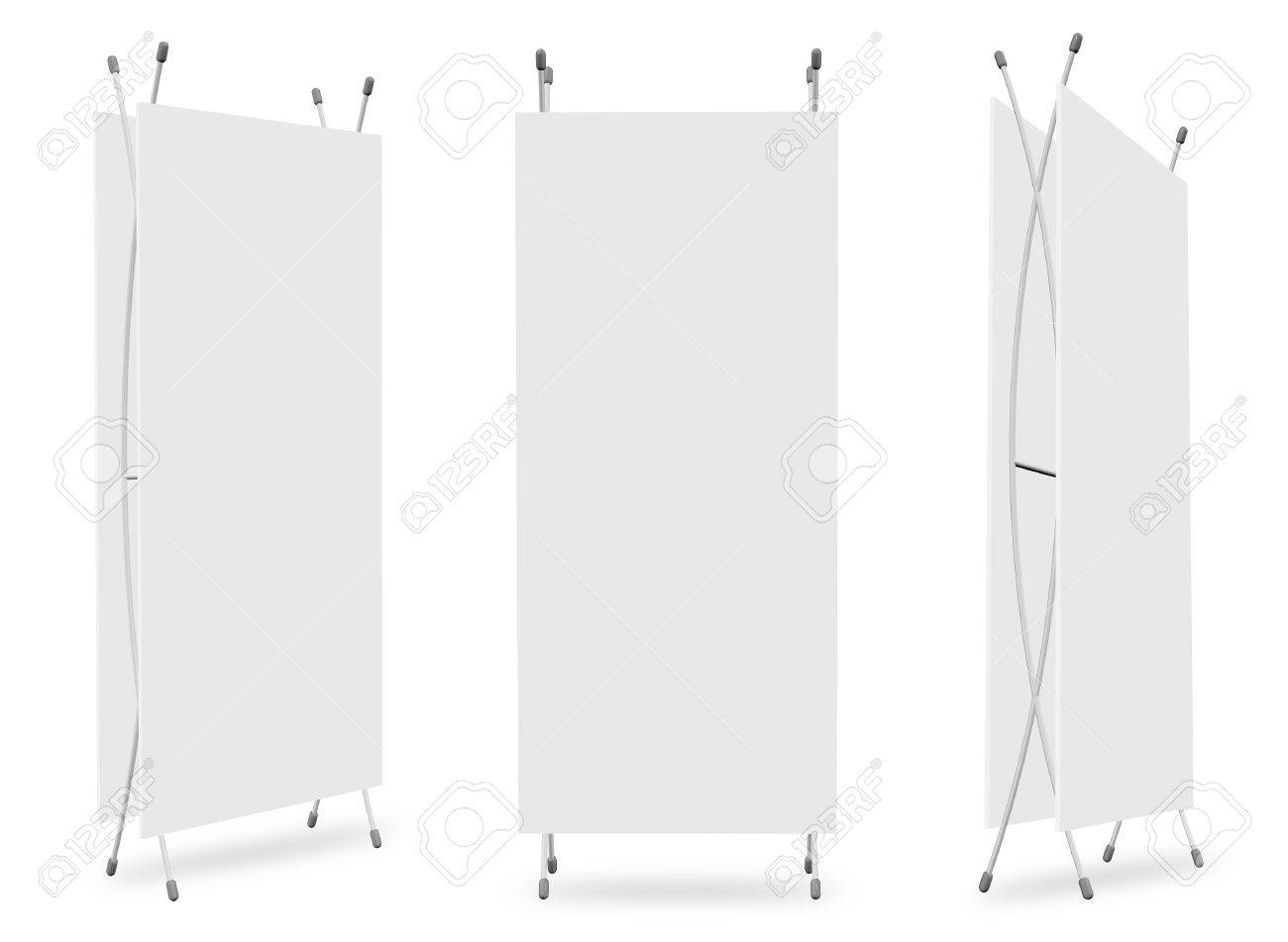 Blank Banner Stand Display (3 View) Template For Design Work Stock ...