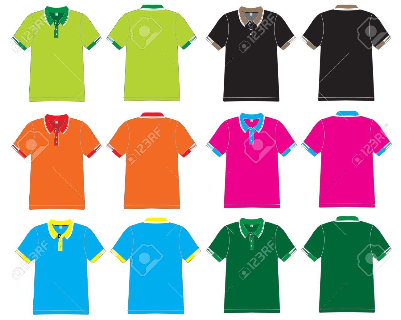 Shirt design green - Vector Polo Shirt Design Vector Template