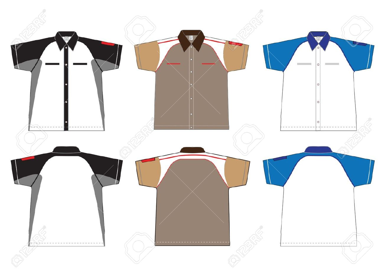 Shirt design illustrator template - T Shirt Vector Illustration Stock Vector 12866955