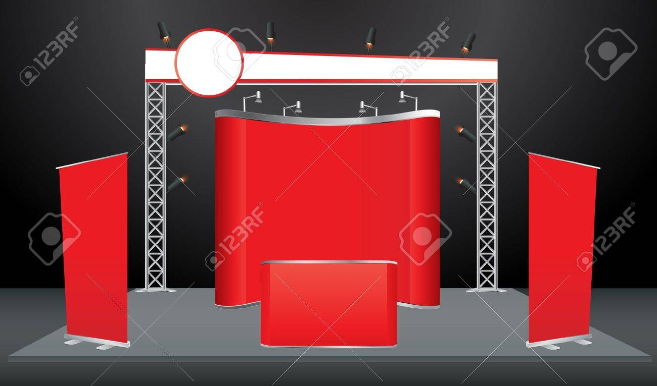 Exhibition Stand With Screen : Exhibition stand design build free d visual display wizard hire