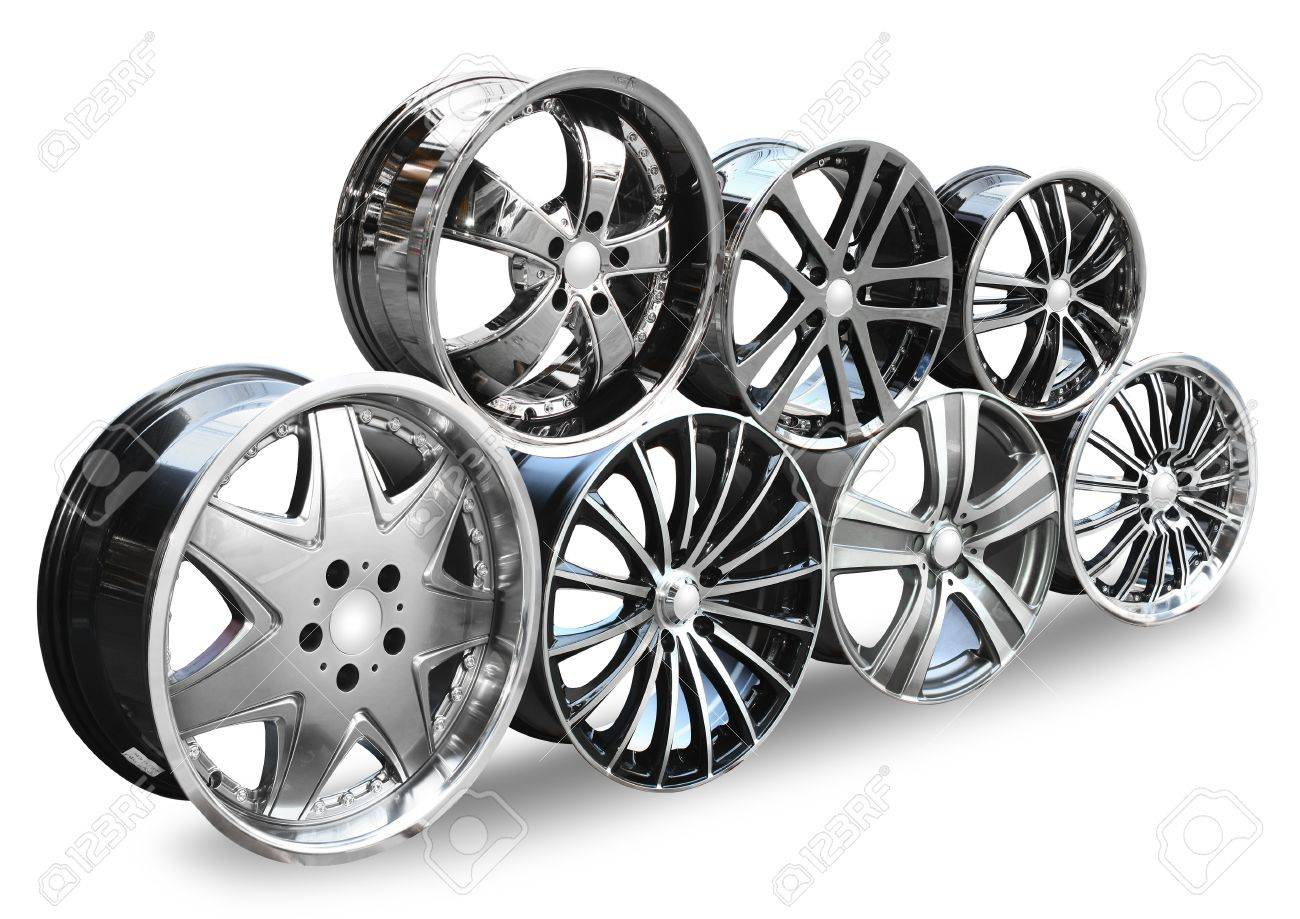 steel alloy car disks over the white background Stock Photo - 12972909
