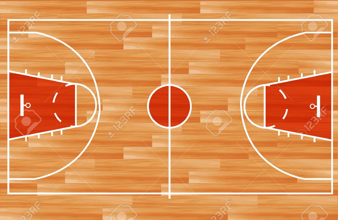 Wooden parquet floor basketball court Vector illustration Stock Vector -  13591947 - Wooden Parquet Floor Basketball Court Vector Illustration Royalty