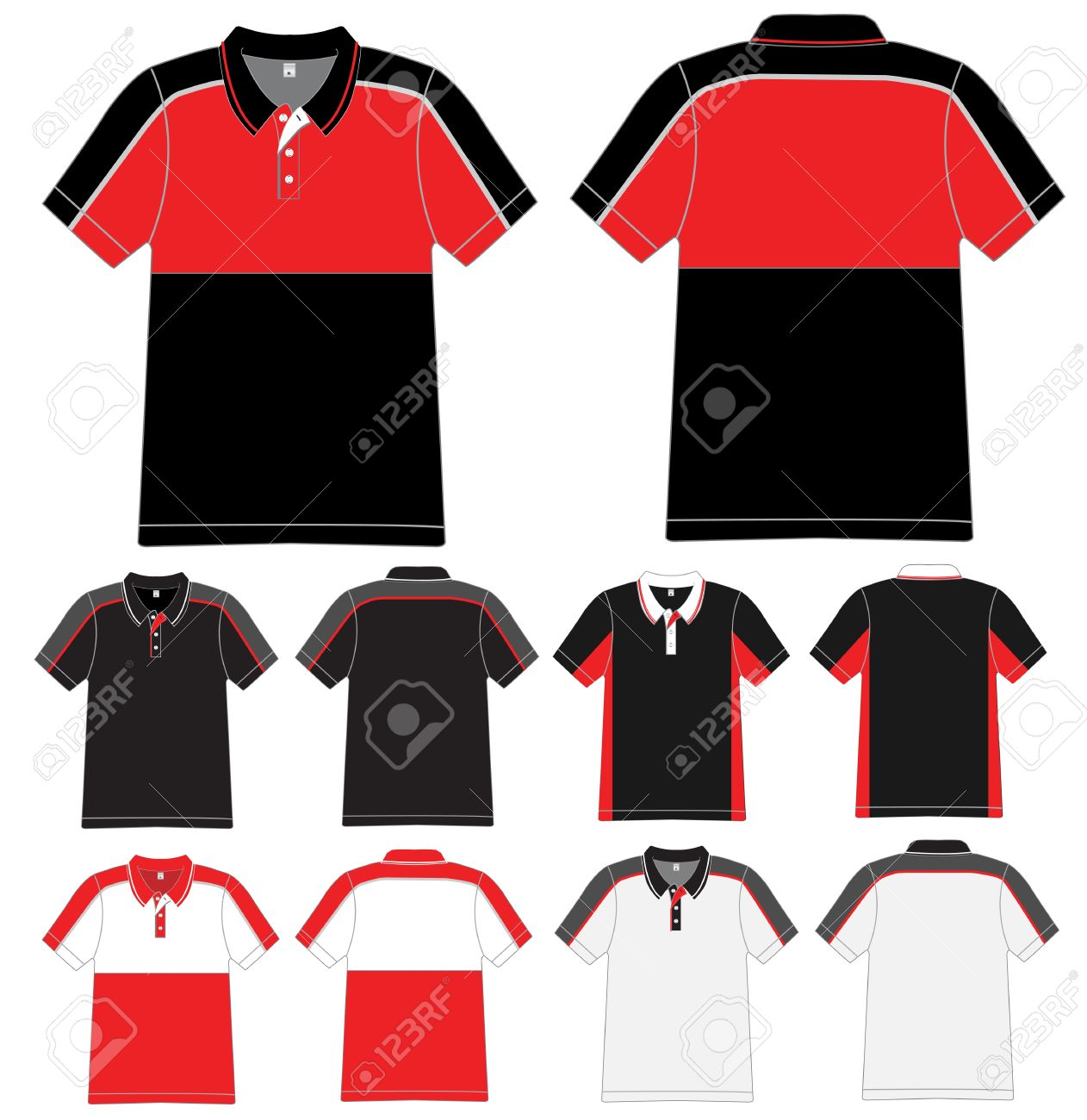 Polo Shirt Design Vector Template Royalty Free Cliparts, Vectors ...