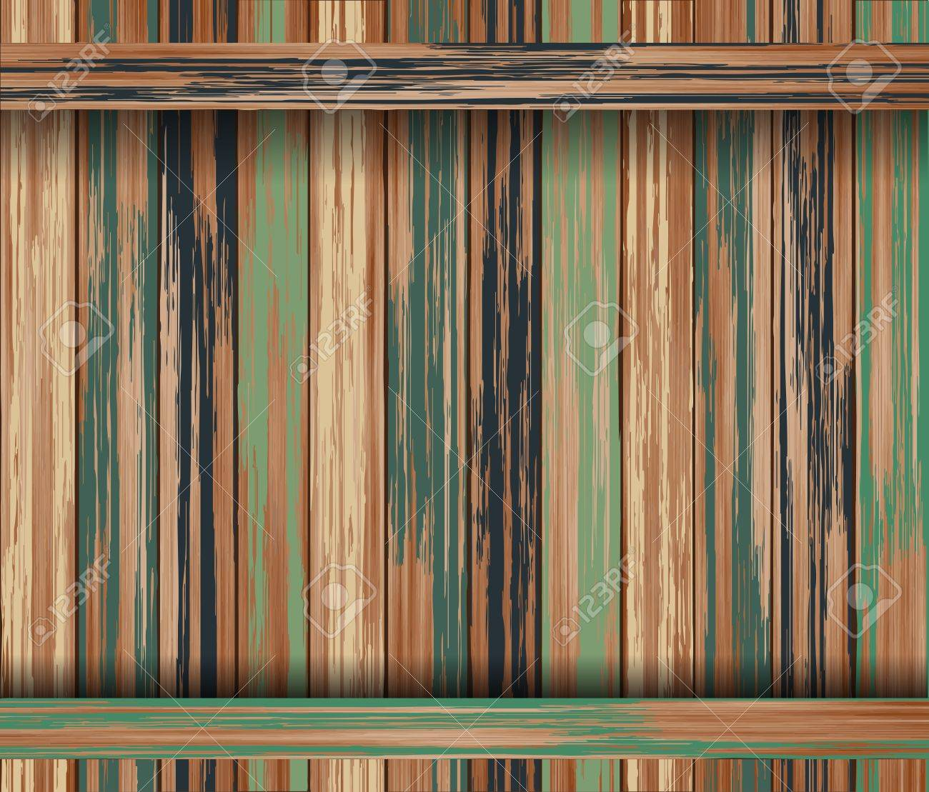 Old color wood plank texture background. Stock Vector - 14196691