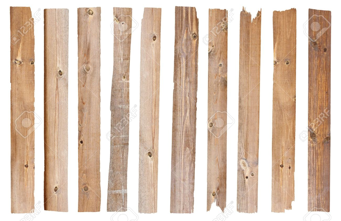 Wood plank, isolated on white background Save Paths For design work - 14684344