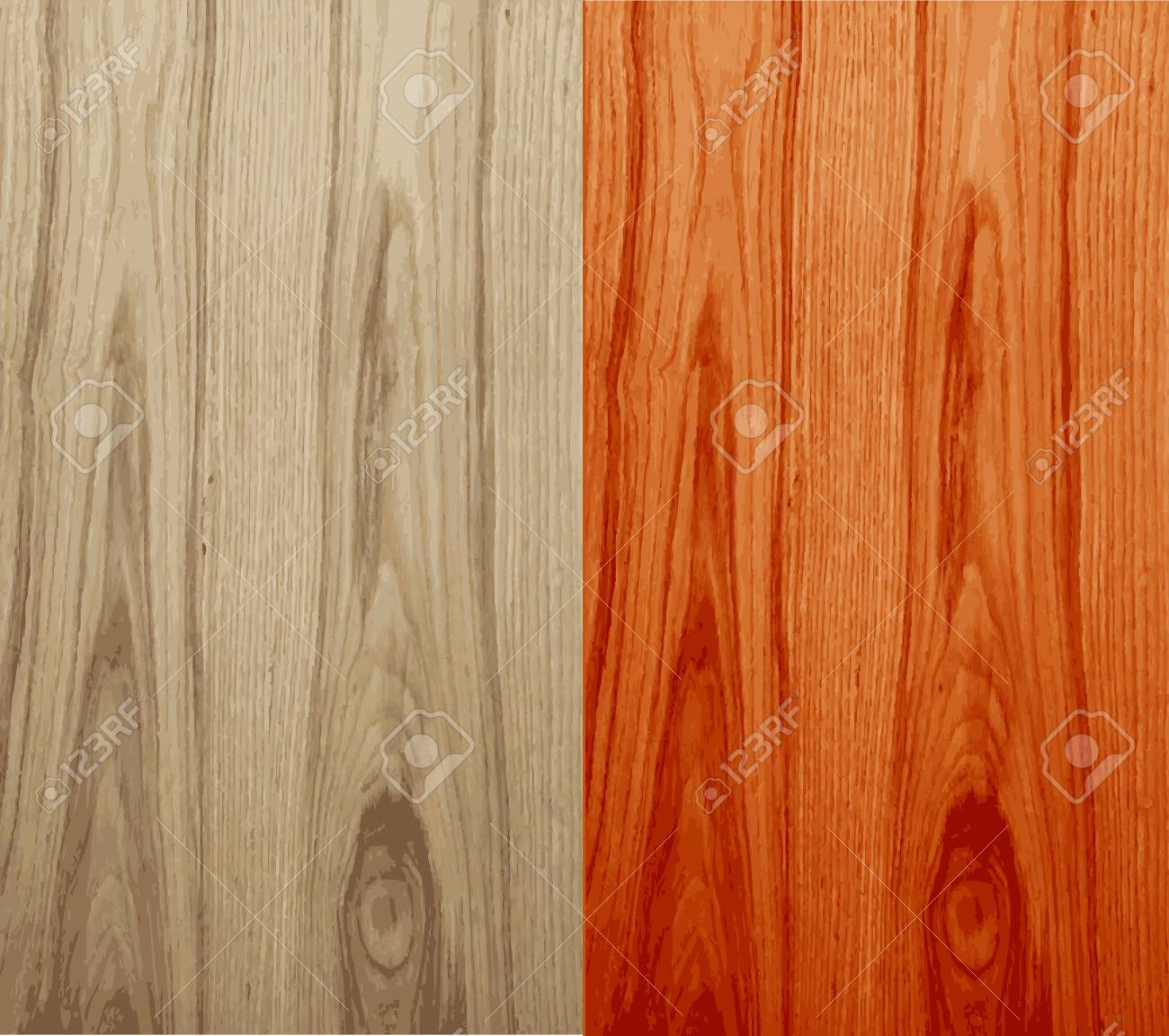 Seamless Vector Wood Stock Vector - 14808096