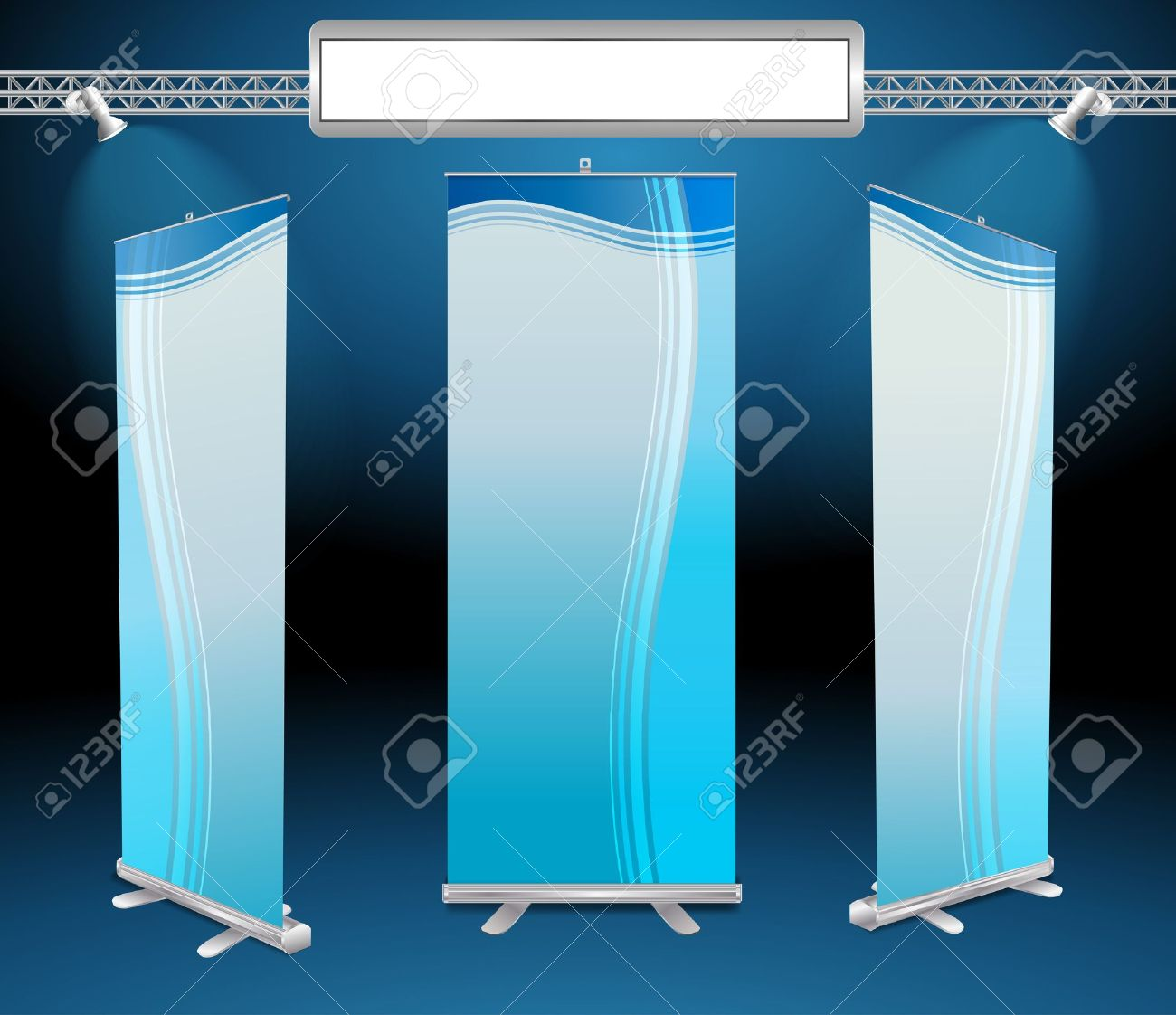 roll up banner display Stock Vector - 15128791