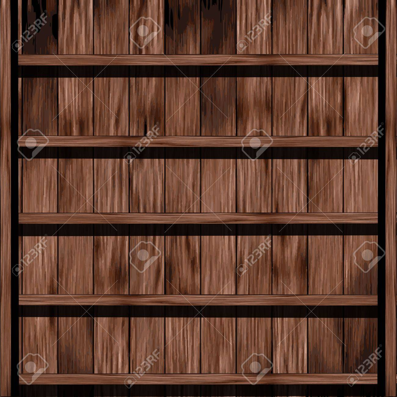 Wood shelf design Stock Vector - 16251417